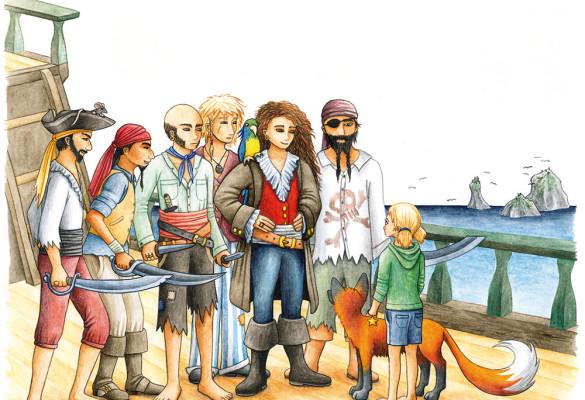 """Auf dem Piratenschiff (erschienen in """"Luisa, Ilan und der Mut"""" bei PepperBooks)"""